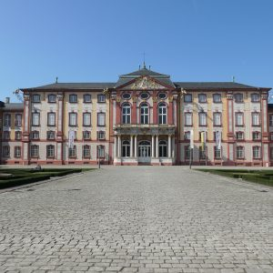 Bruchsal Palace from outside.