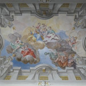 Ceiling painting at Bruchsal Palace.