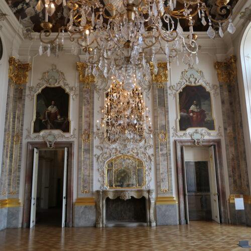 Royal hall at Bruchsal Palace.
