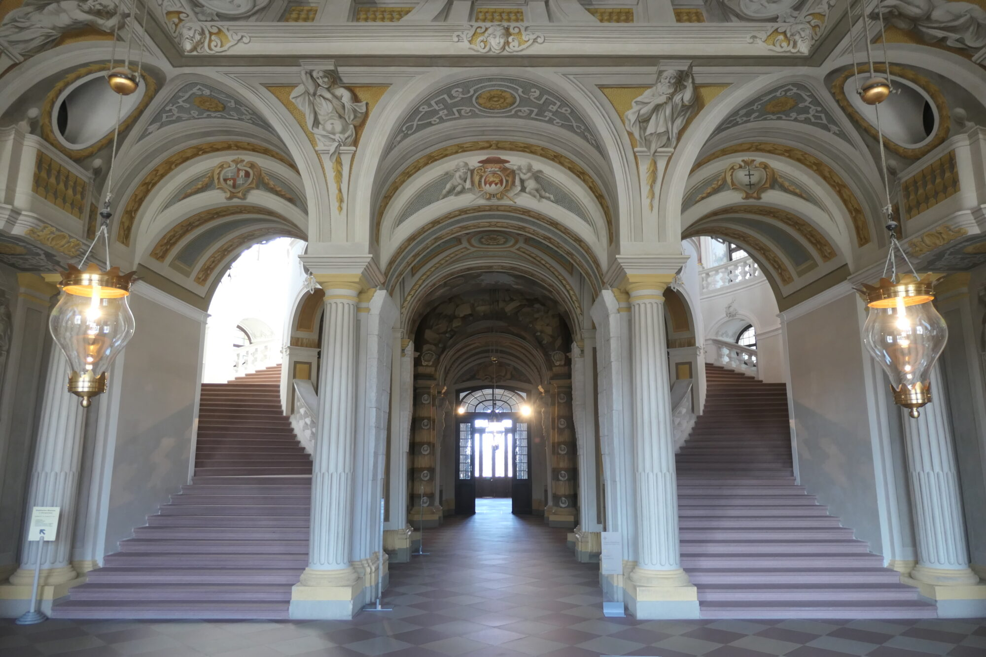 Stairway at Bruchsal Palace.