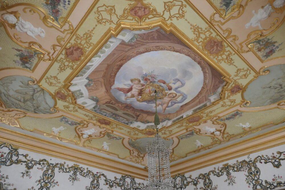 Painted ceiling at Rastatt Favorite Palace.