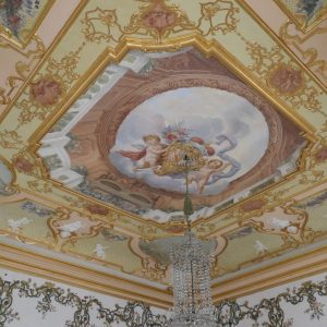 Painted ceiling at Rastatt Favorite Palace.