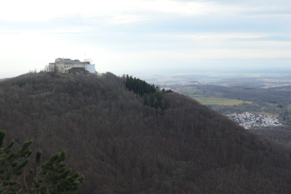 Hohenneuffen seen from Wilhelmsfels.