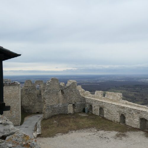 Castle Courtyard Panorama over the Swabian Alb.