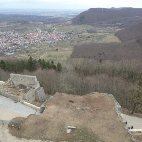 Panorama seen from Hohenneuffen.