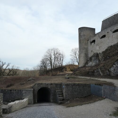 Entrance tunnel to Castle Hohenneuffen.