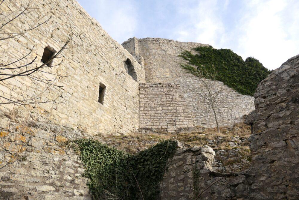 Hohenneuffen castle walls.