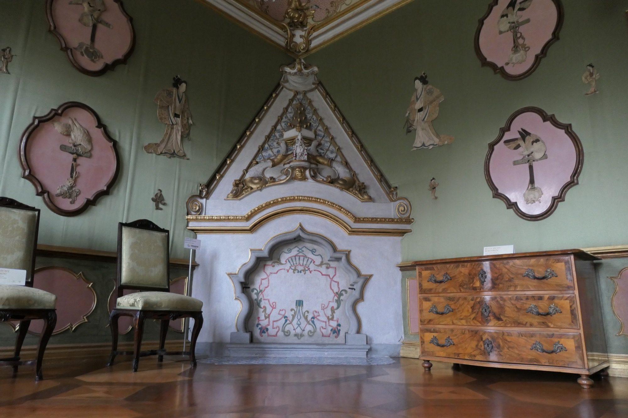 Japanese room at Rastatt Favorite Palace.