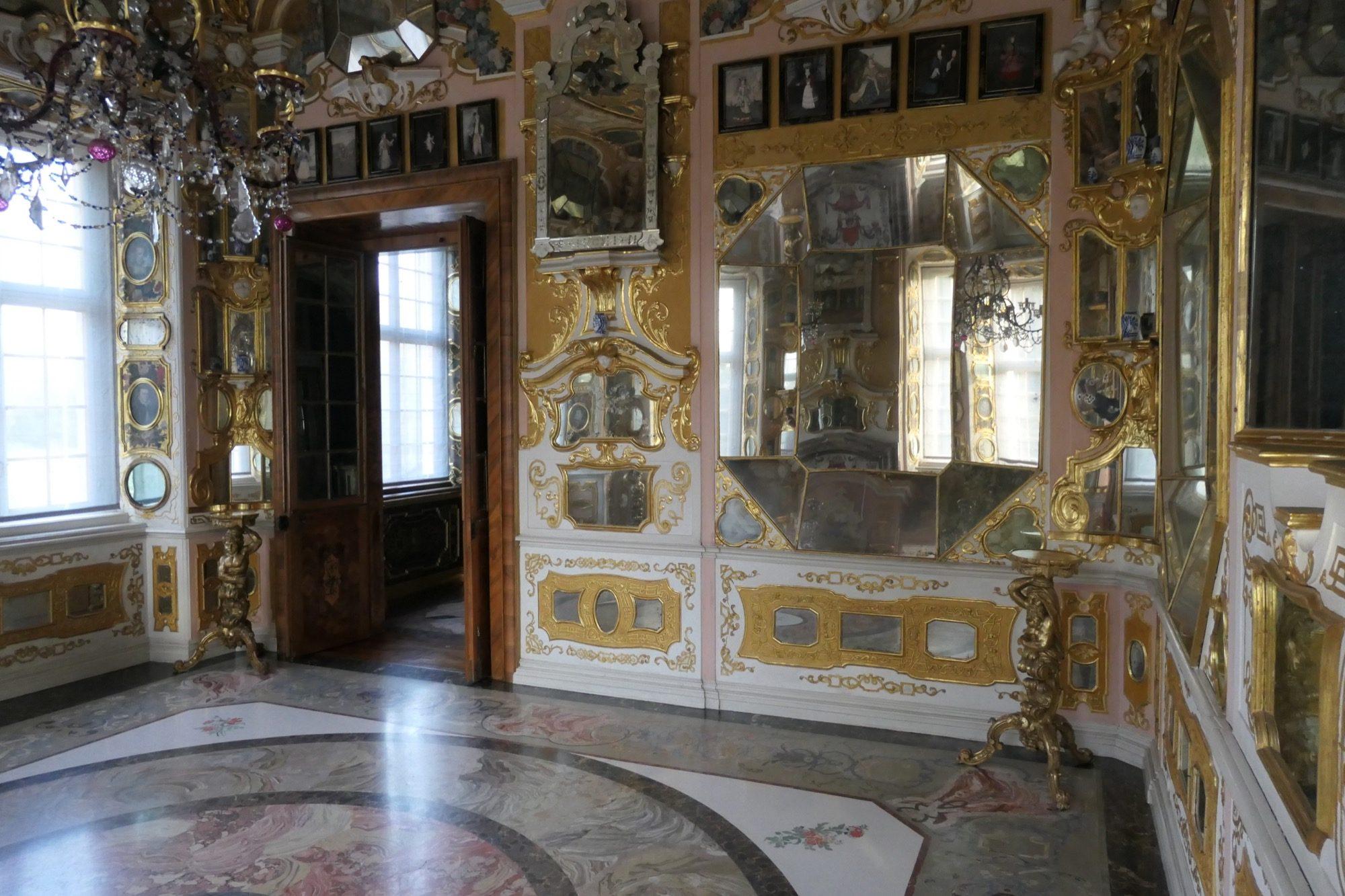 Mirror room at Rastatt Favorite Palace.