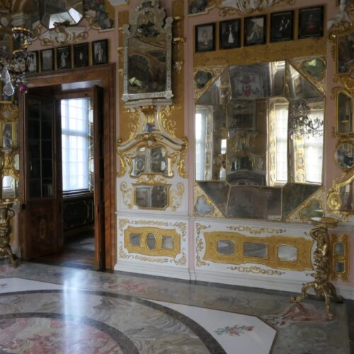 Mirror room at Rastatt Favorite Palace.