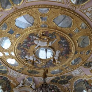 Ceiling of mirror room at Rastatt Favorite Palace.