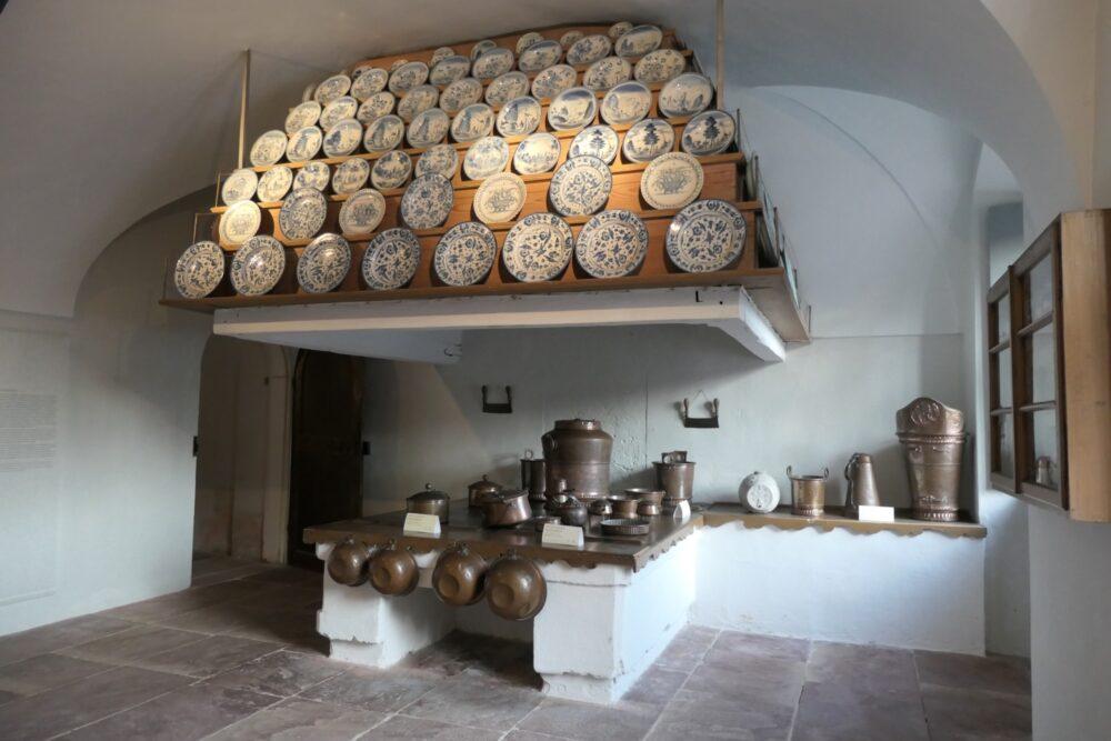 Porcelain display kitchen at Rastatt Favorite Palace.