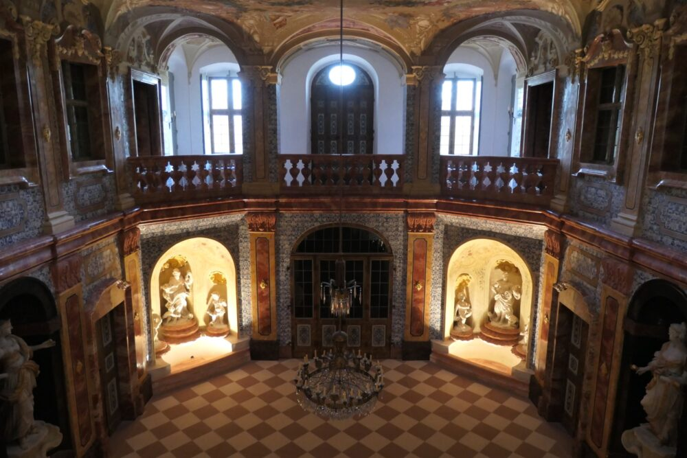 First floor at Sala Terrena at Rastatt Favorite Palace.