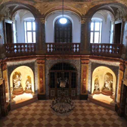 First floor at Sala Terrena at Rastatt Favorite Palace.