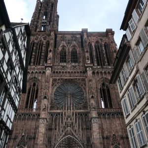 Strasbourg Cathedral's main entrance.