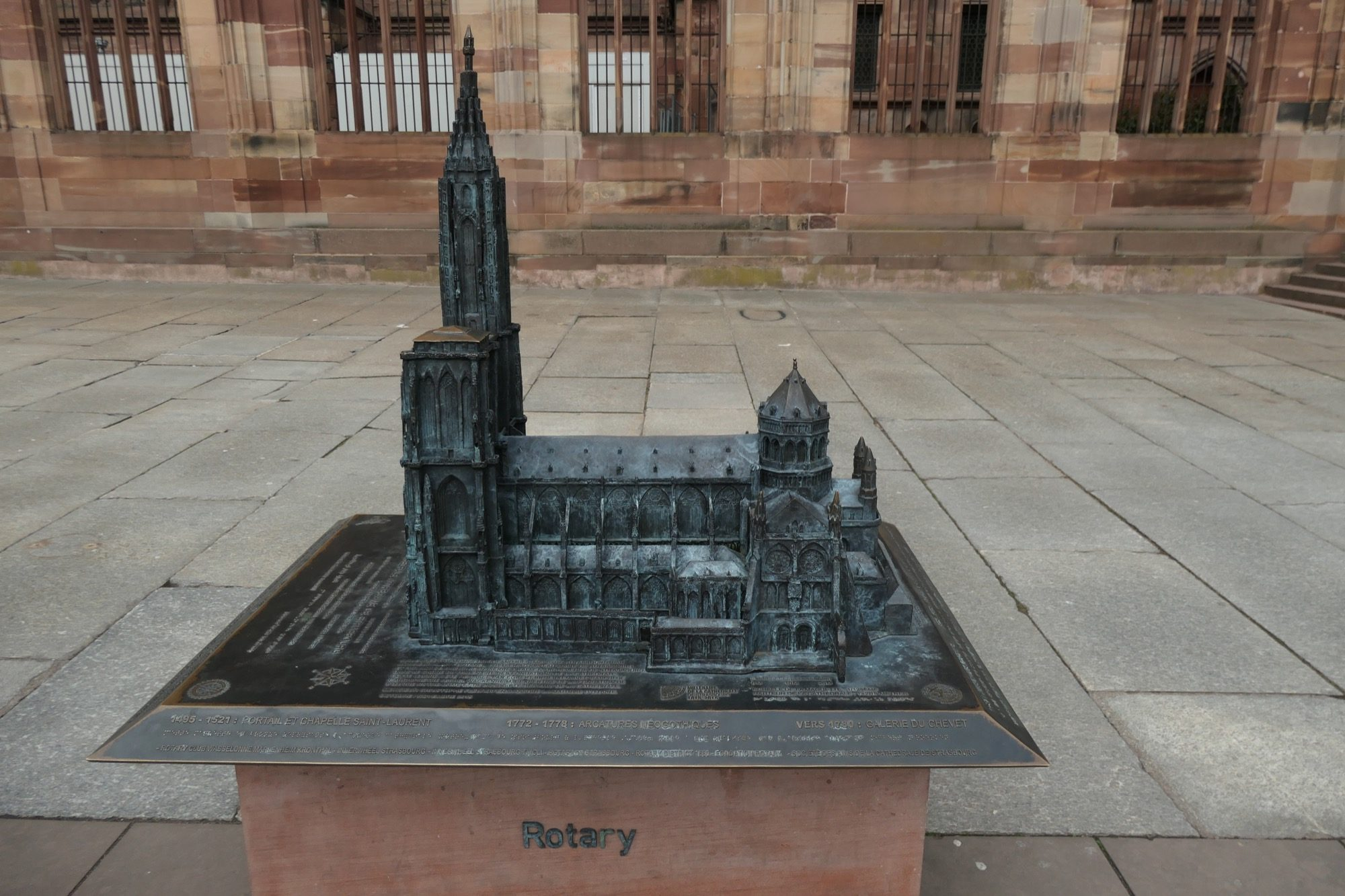 A model of Strasbourg's Cathedral.