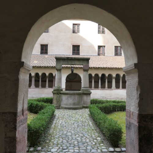 Monastery garden at St. Peter's Church.