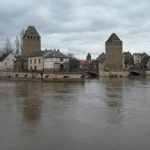 Three guard towers at Strasbourg