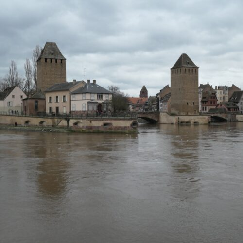 Three guard towers at Strasbourg