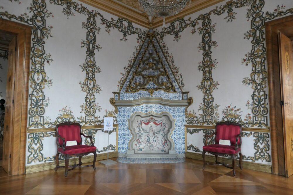Tile stove at Rastatt Favorite Palace.