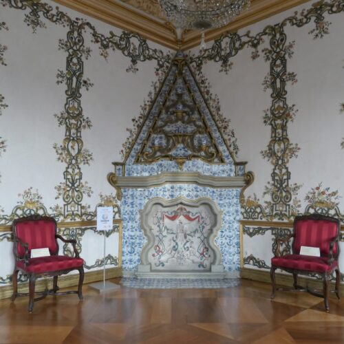Tile stove at Rastatt Favorite Palace.