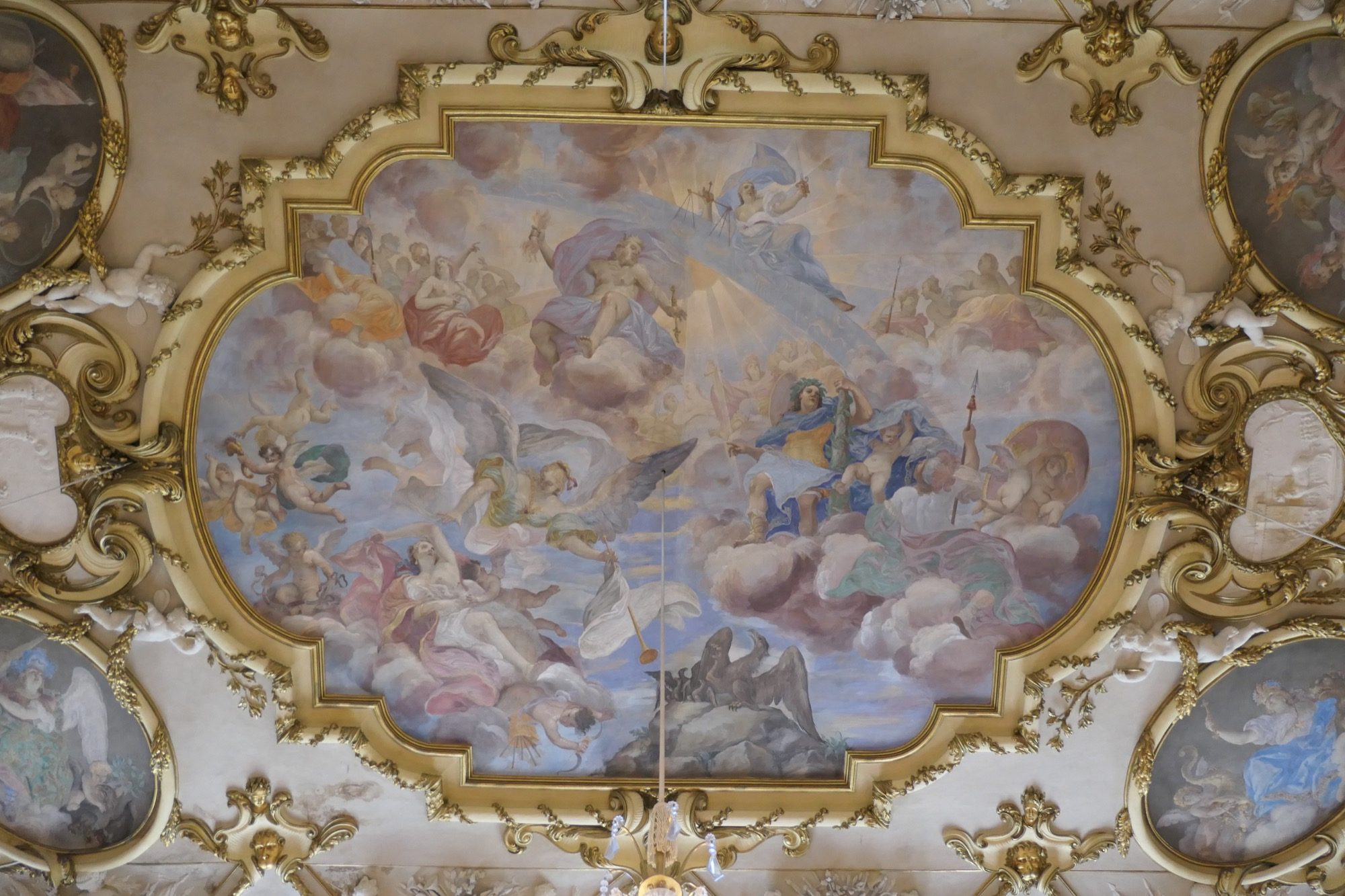 Ceiling Painting at the Ancestral Hall