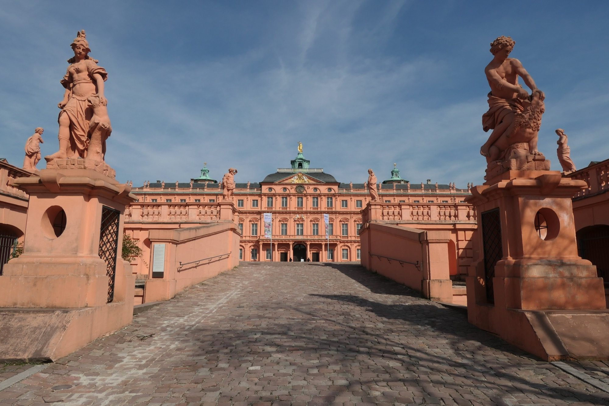 Entrance to Rastatt Residential Palace.