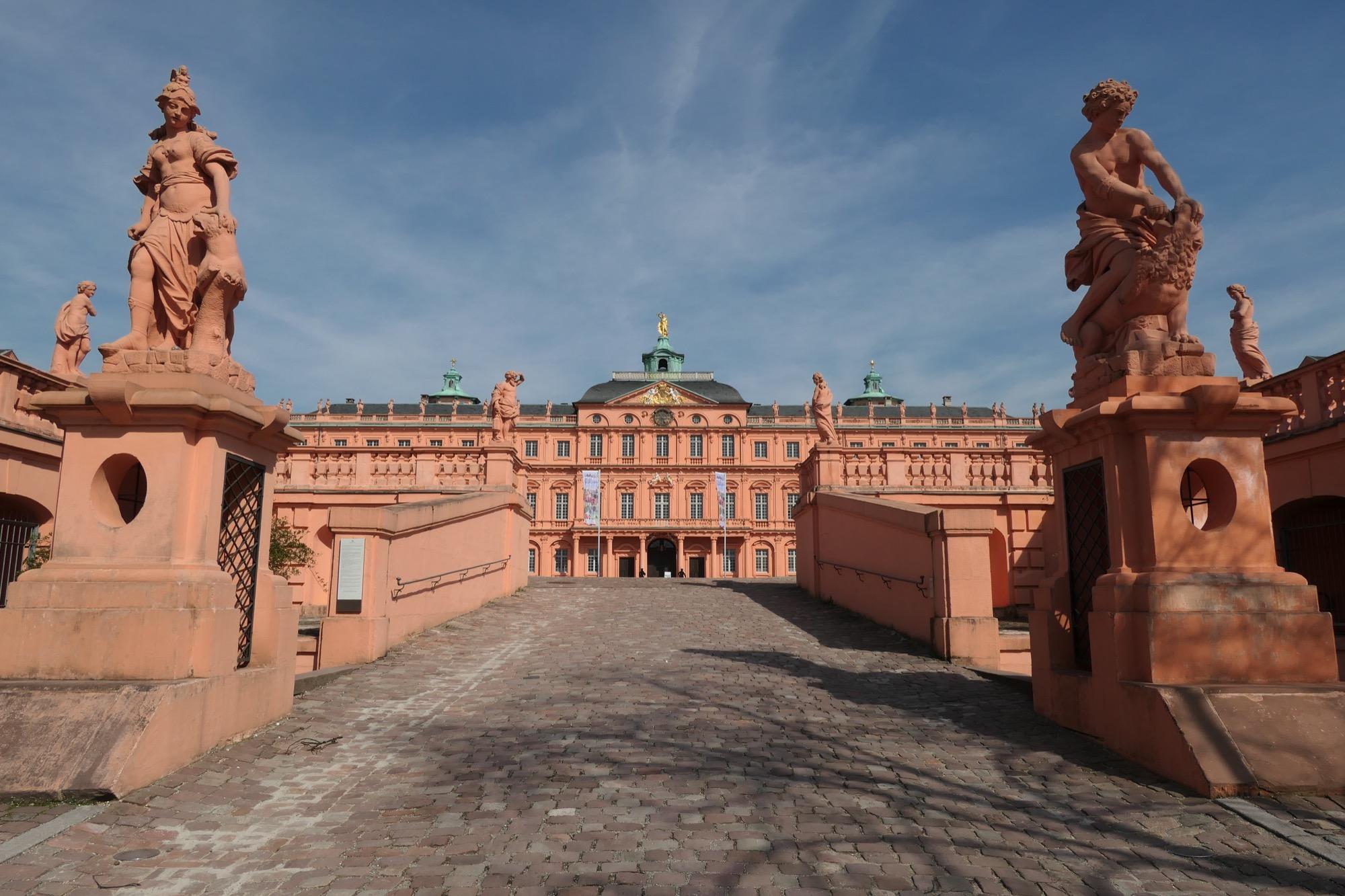 Entrance to Rastatt Residential Palace.