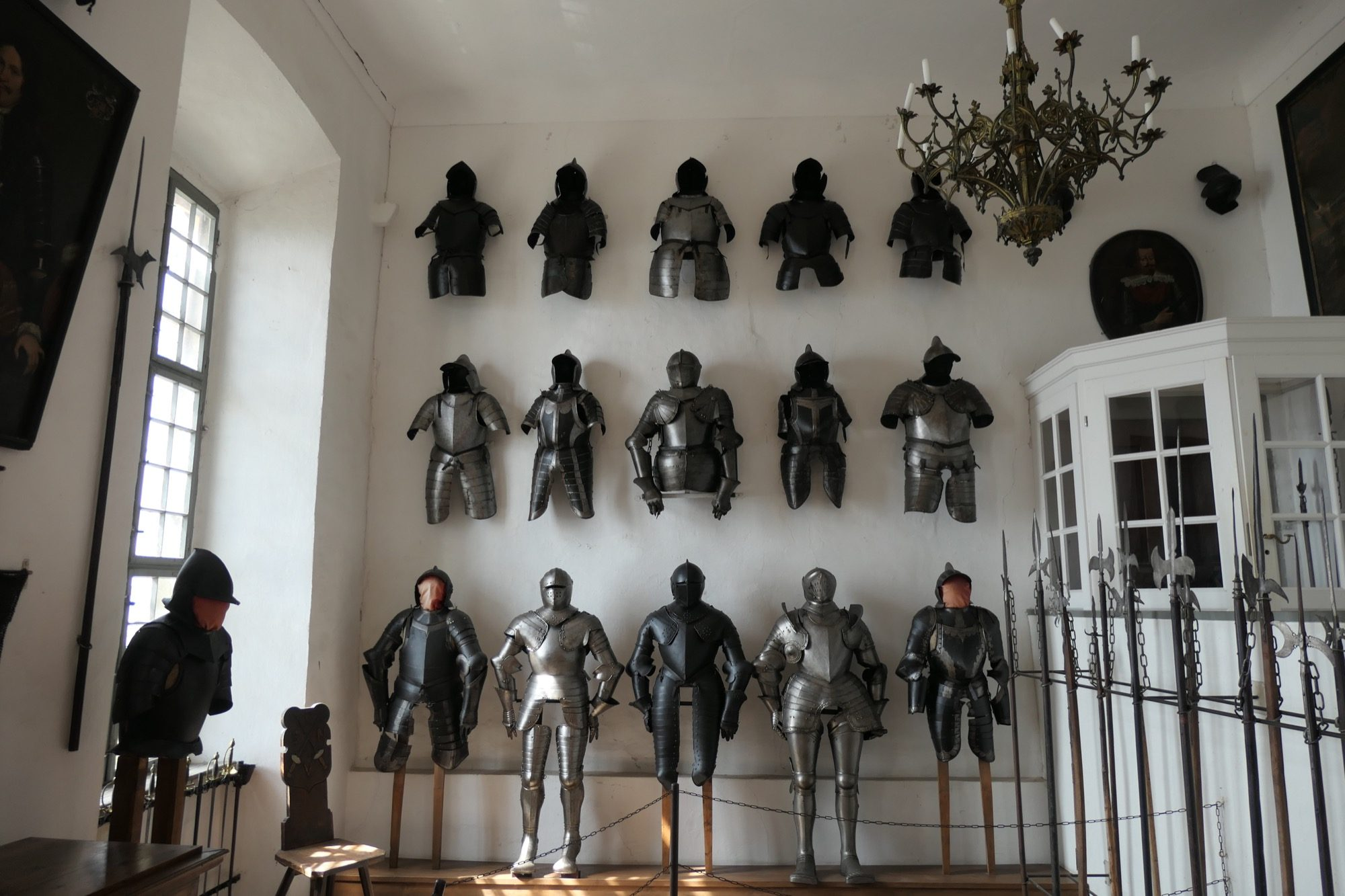 Collection of knight armors