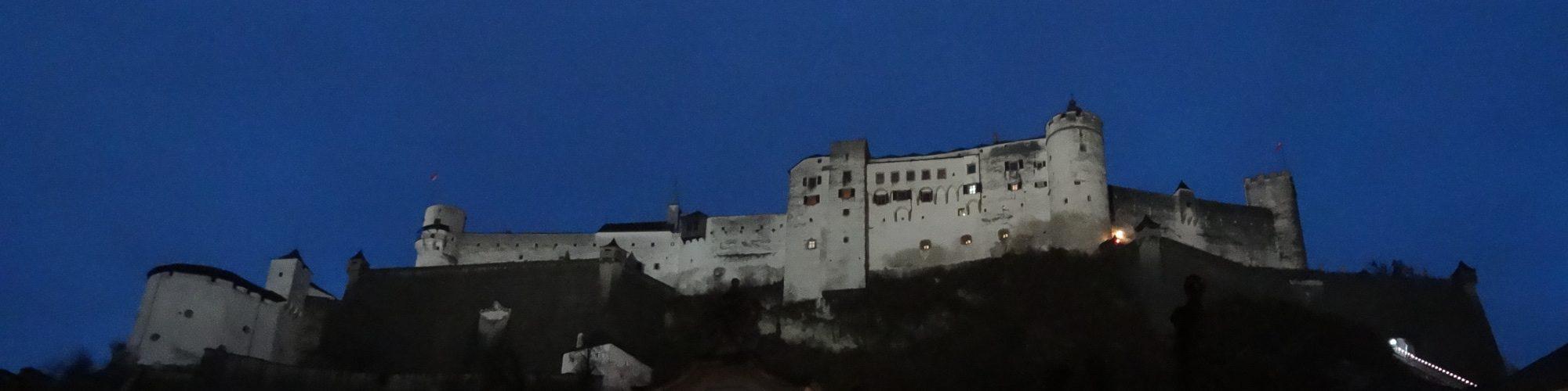 Fortress Hohensalzburg by night