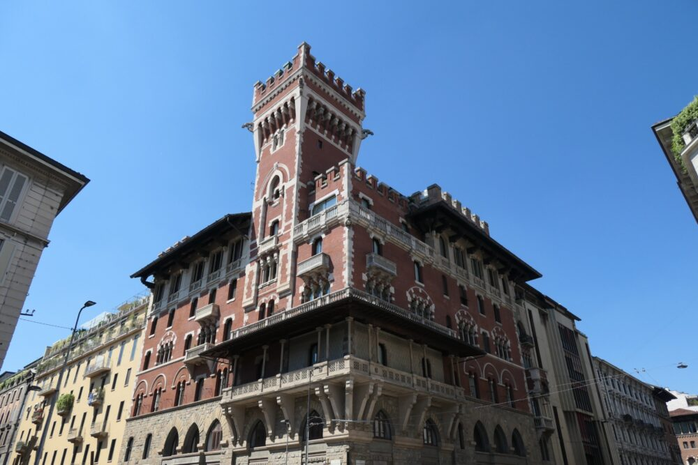 Castle looking House in Milan