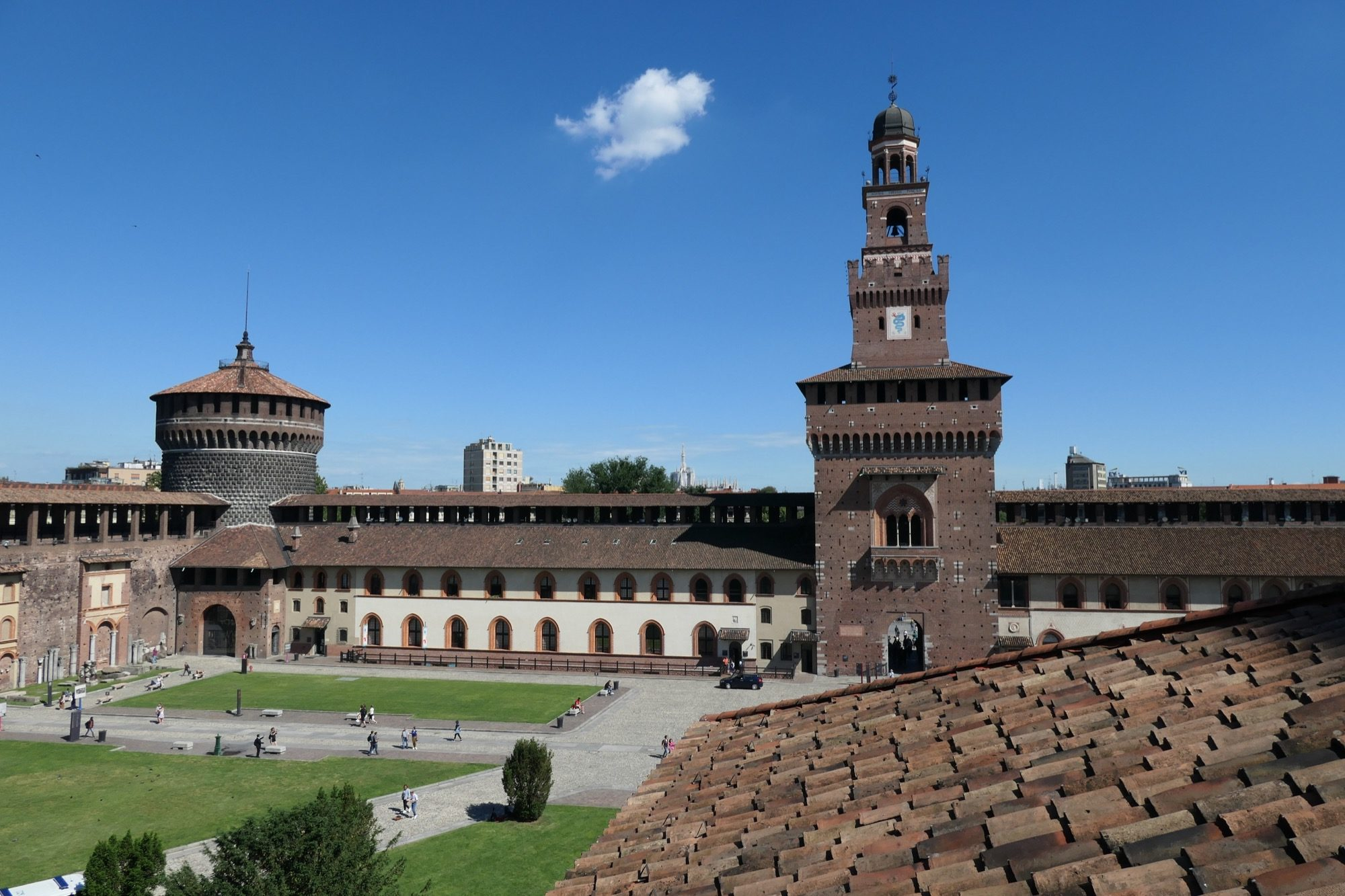 Bailey at the Sforza Castle