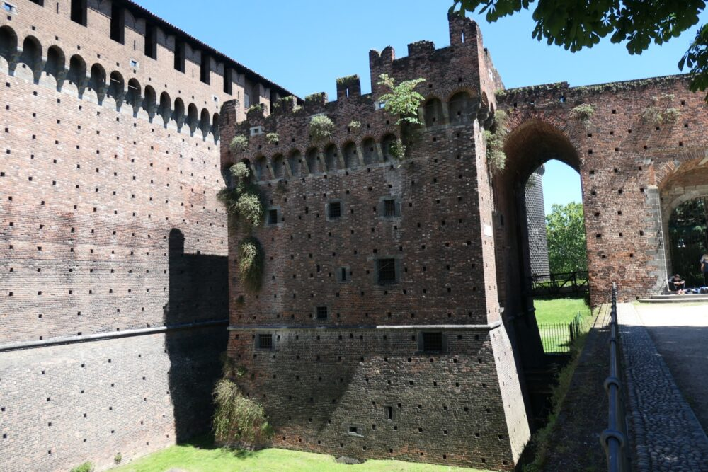 Sforza castle ruin