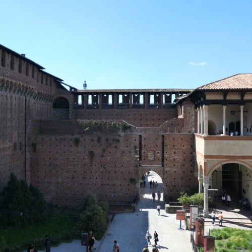 Inner ward at Sforza Castle