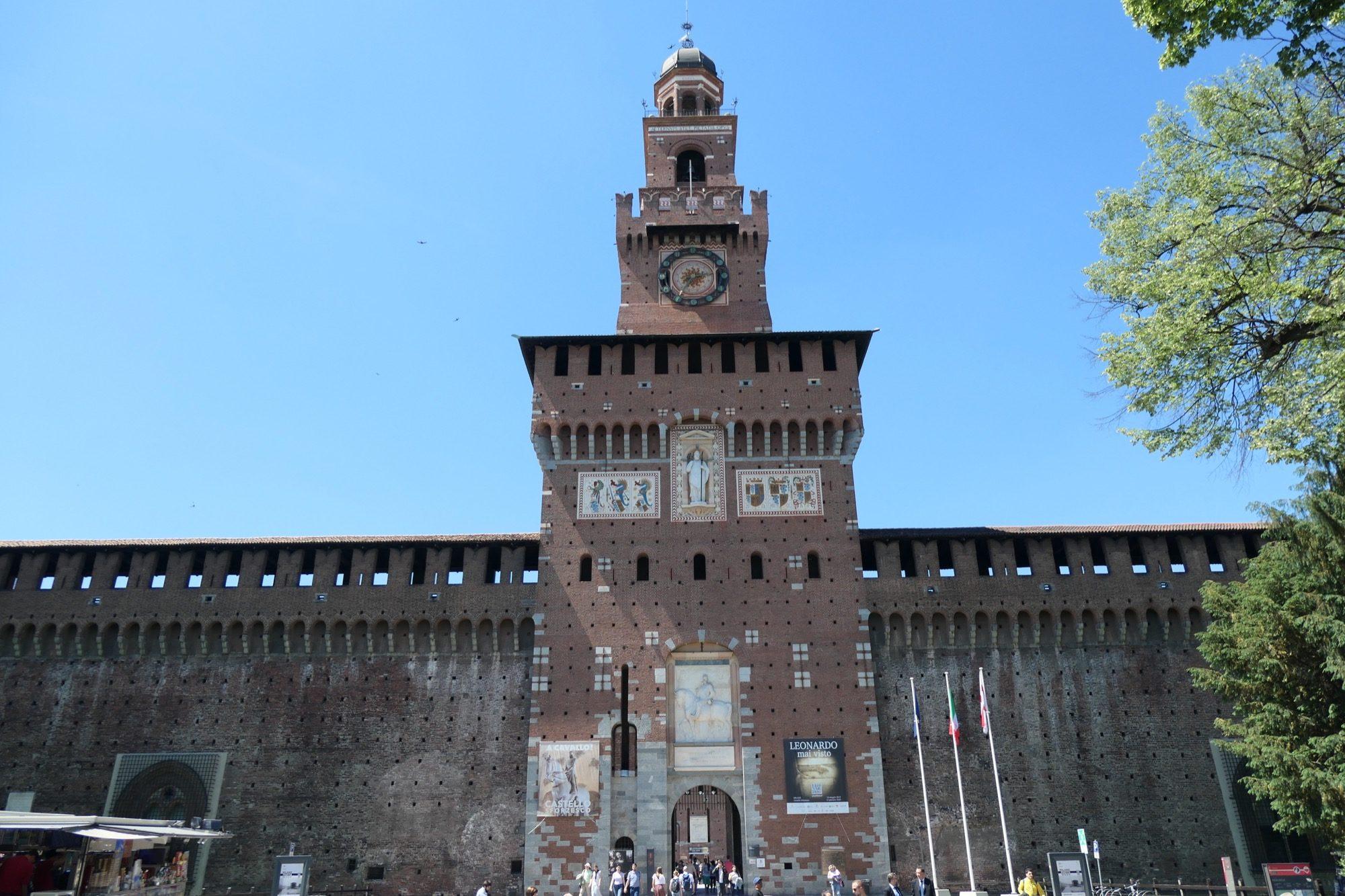 Main gate at Sforza Castle