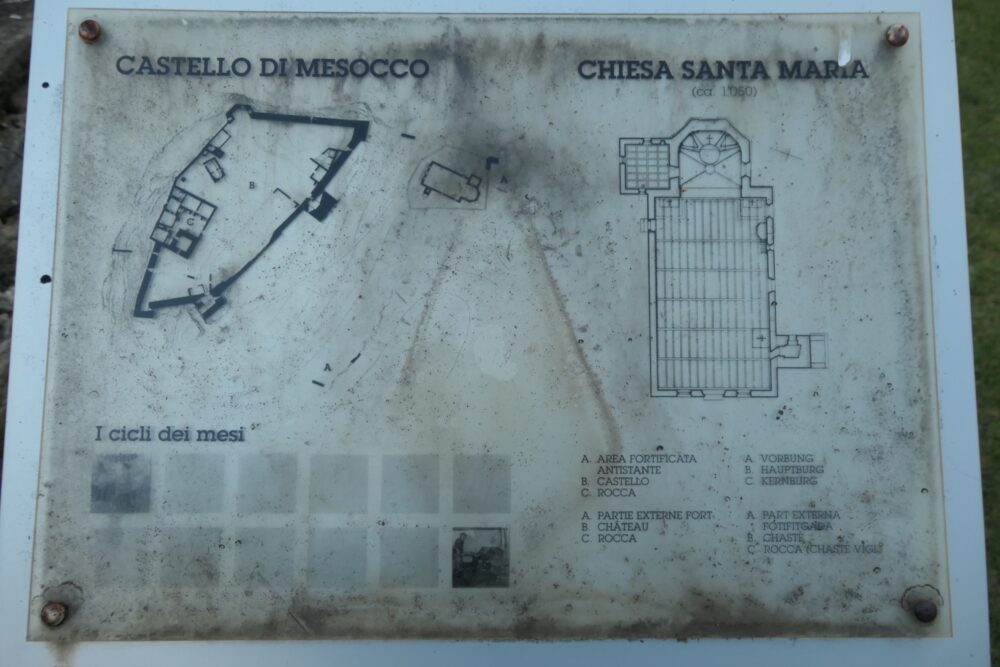 Map of Mesocco Castle