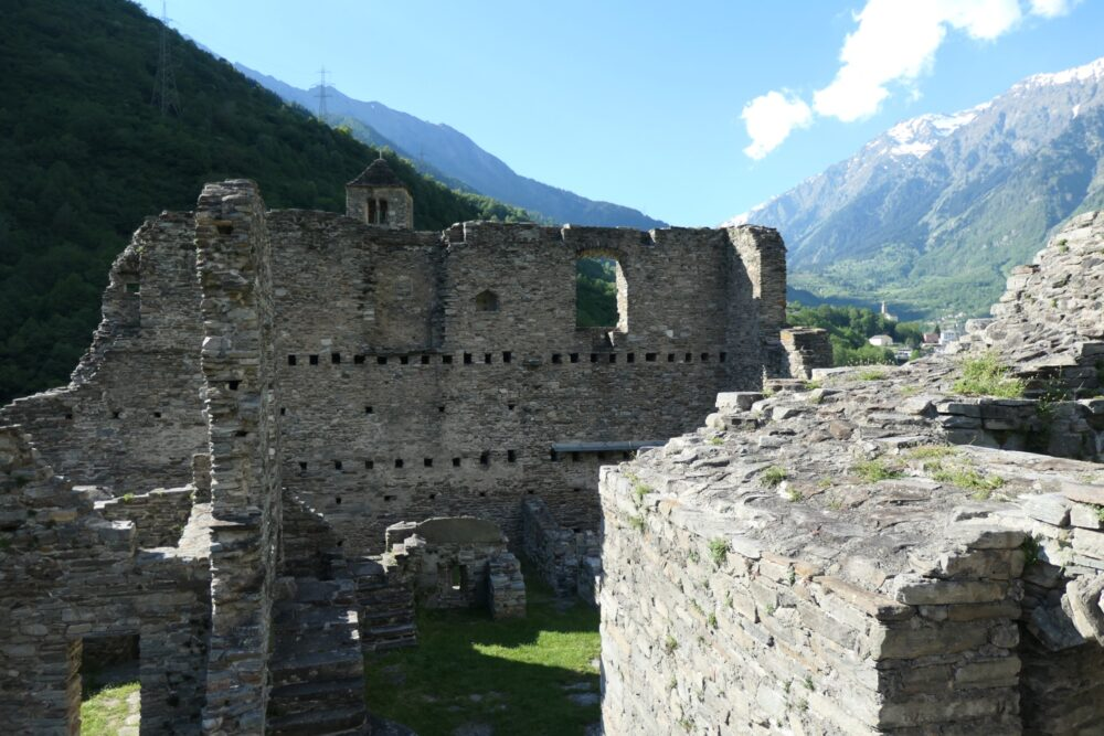 What's left of Mesocco Castle keep