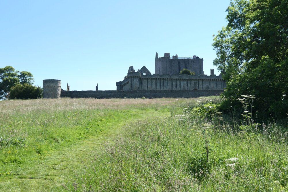Approaching Craigmillar Castle