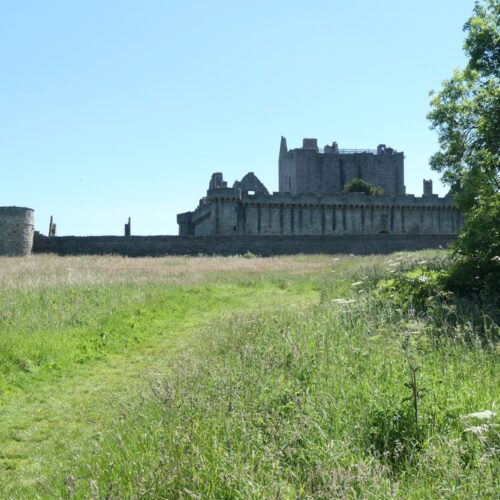 Approaching Craigmillar Castle