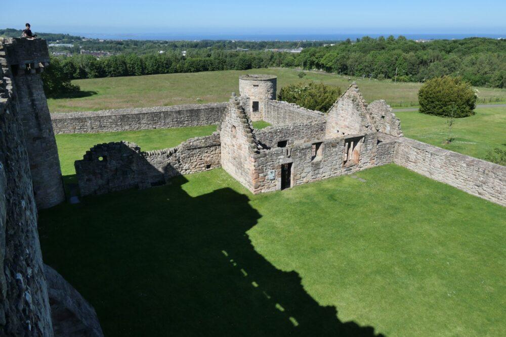 Craigmillar Castles outside courtyard