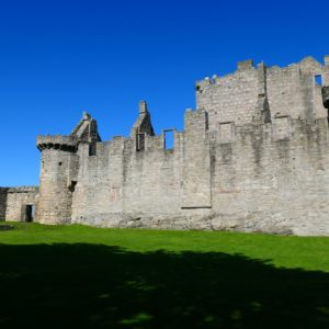 Walls and towers at Craigmillar Castle