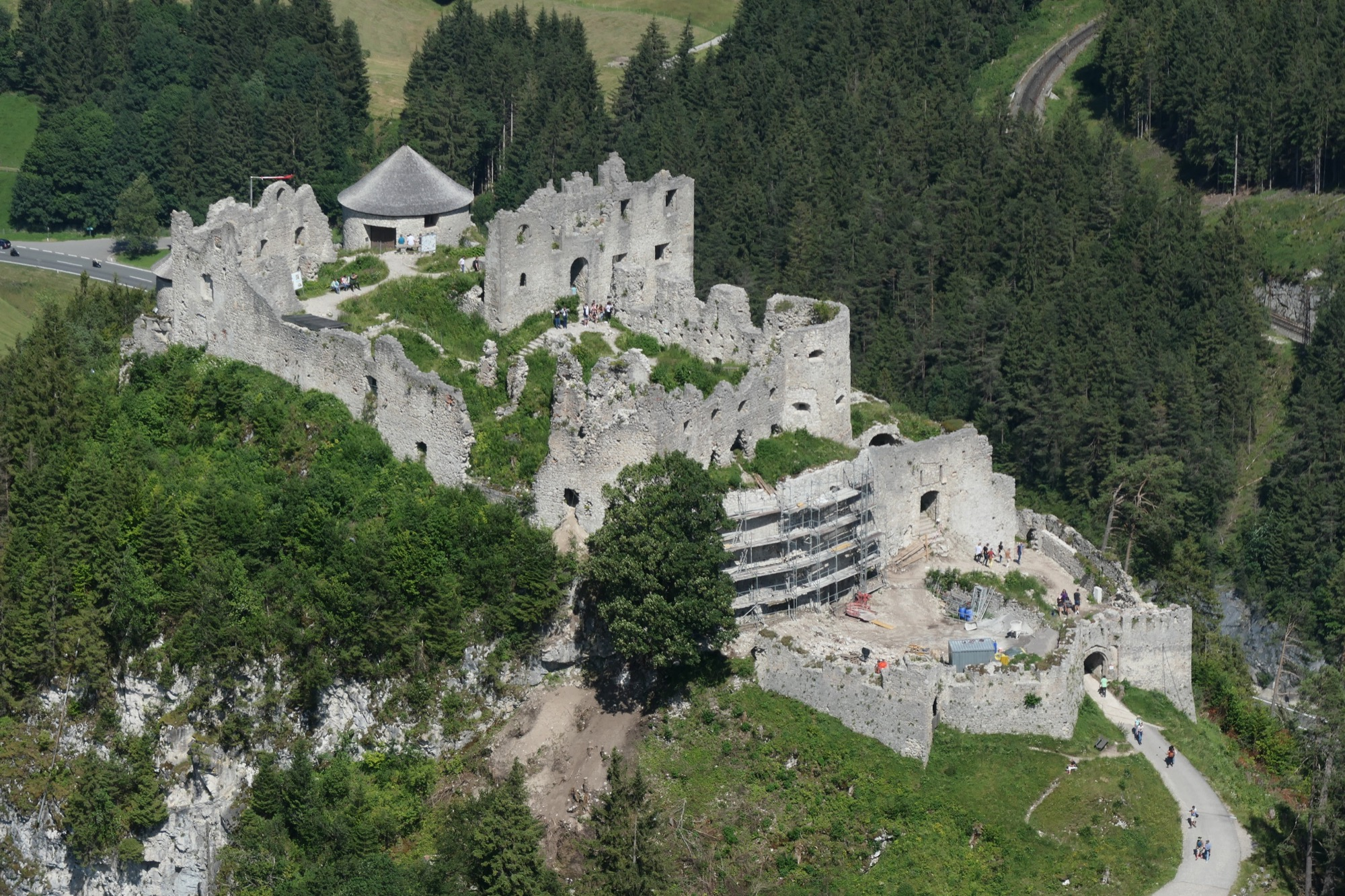 Ehrenberg Castle seen from Schlosskopf