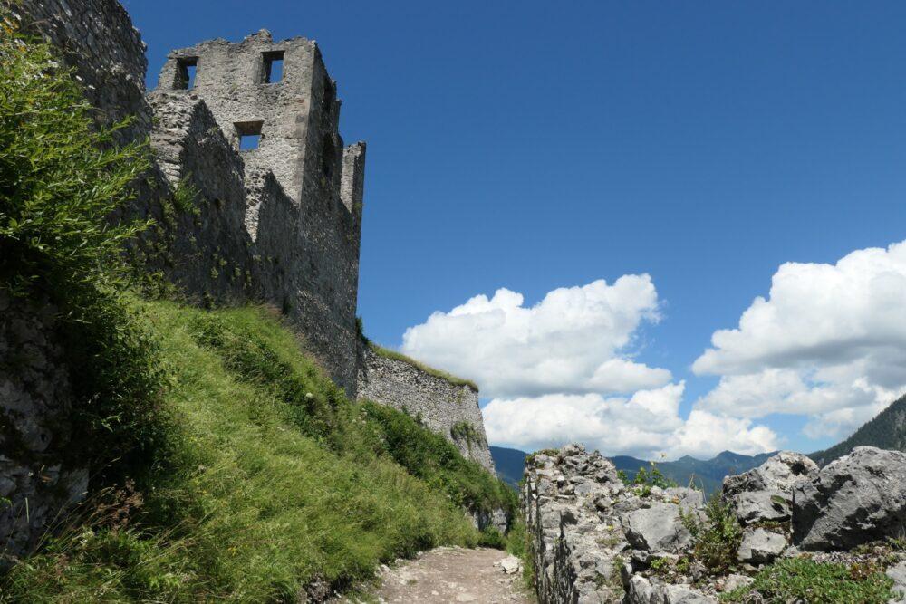 Inside walls of Ehrenberg Castle.