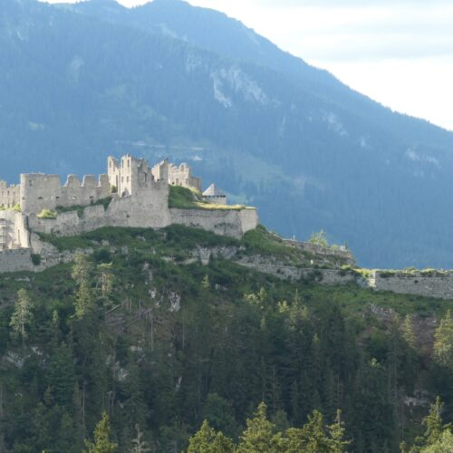 Ehrenberg Castle seen from Fort Claudia