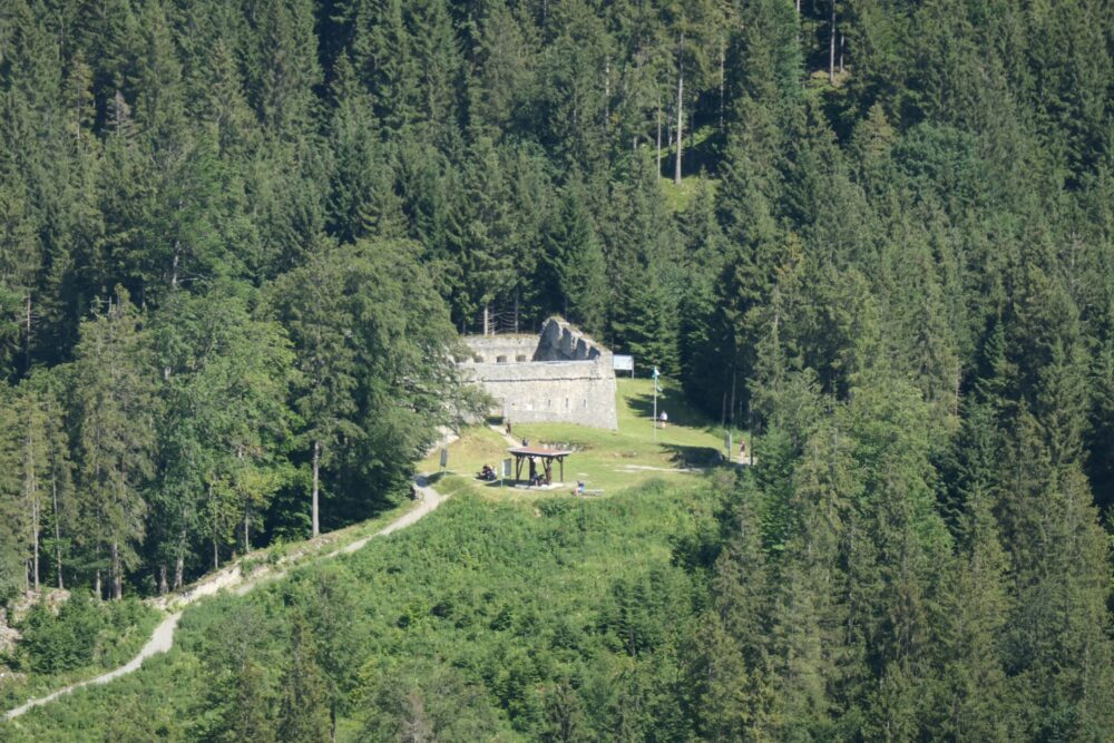 Fort Claudia seen from Schlosskopf