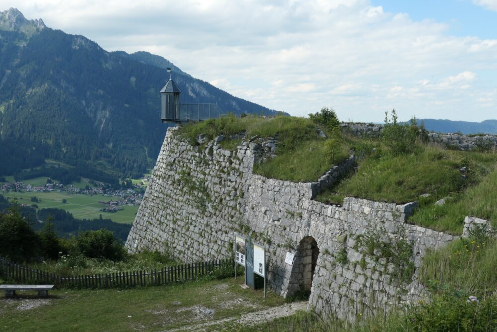Old entrance to Schlosskopf Fortification.