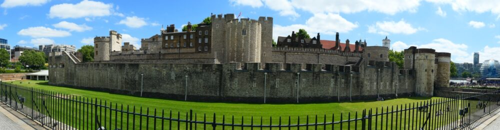 Panorama of the Tower of London.