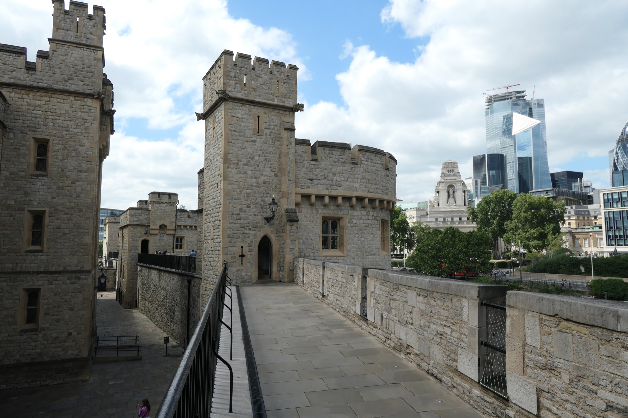 Bastions at the Tower of London.