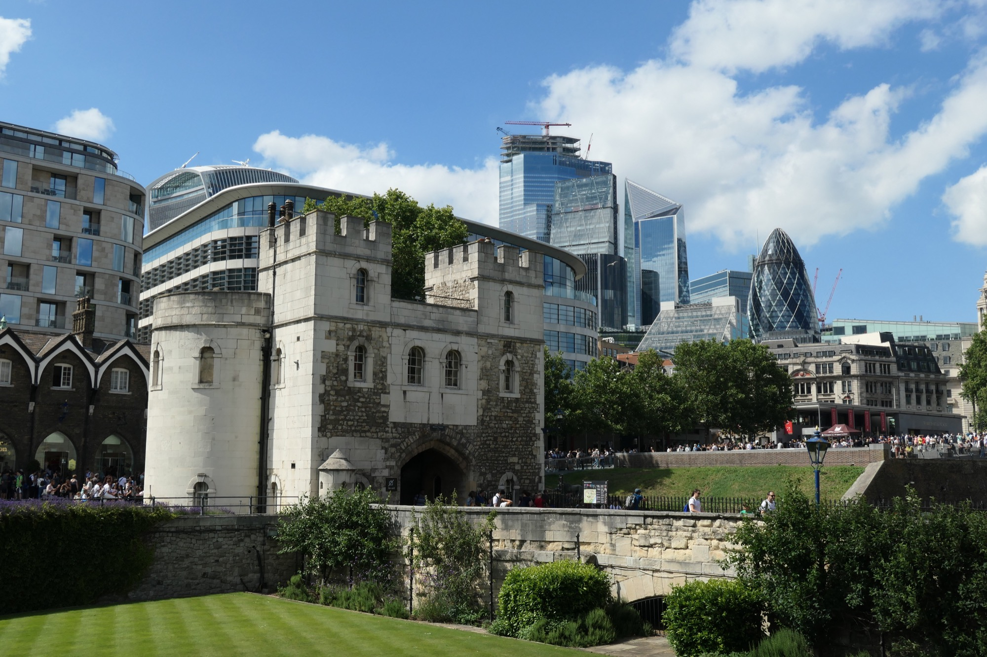 The entrance to the Tower of London