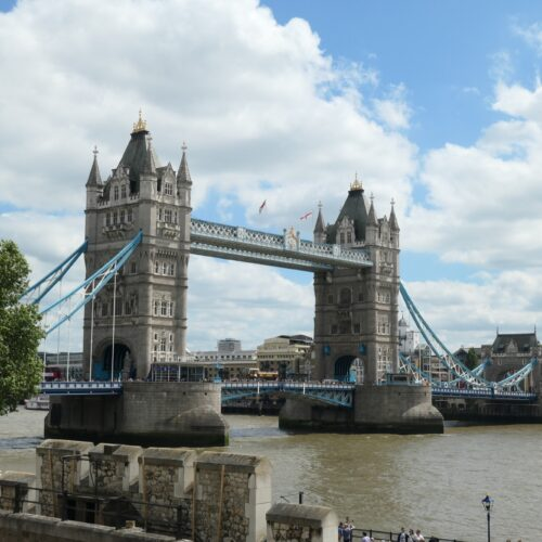 Tower Bridge seen from the Tower of London.